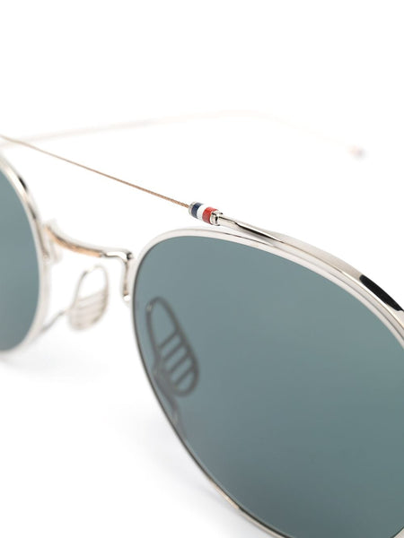 Thin Frame Silver Sunglasses