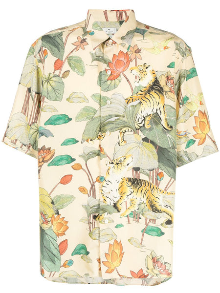 Tiger Floral Graphic Shirt