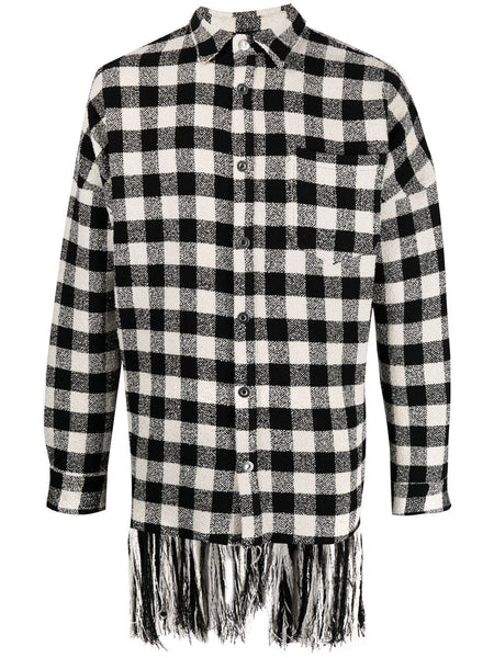 Fringed Check Shirt Jacket
