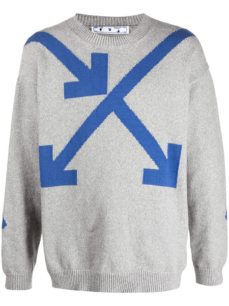 Twisted Arrows Knitted Jumper