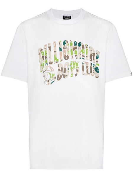 Camouflage Arch Logo Print T-Shirt