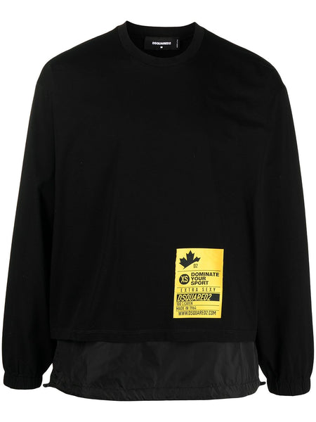 Logo-Patch Removable-Panel Sweatshirt
