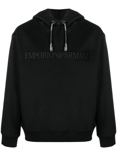 Embroidered-Logo Cotton Hoodie