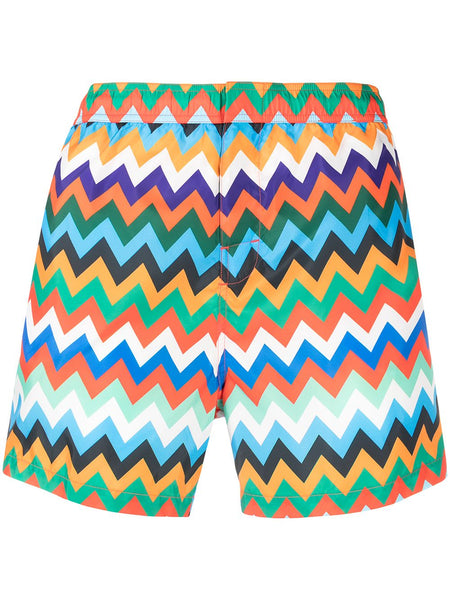 Zig-Zag Print Swimming Shorts