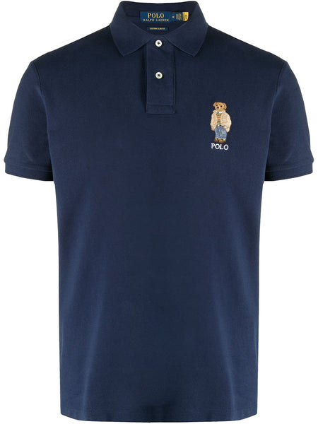 Embroidered-Logo Cotton Polo Shirt
