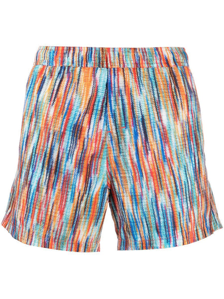 Woven-Print Swimming Shorts