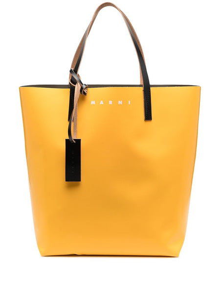 Contrast-Panel Tote Bag