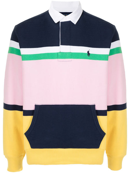 Stripe Polo Baby Pink