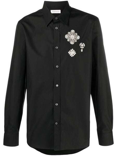 Multi-Patch Cotton Shirt