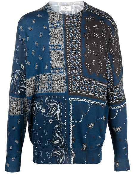 Paisley Print Cotton Jumper