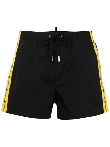 Logo Trim Taped Swim Shorts