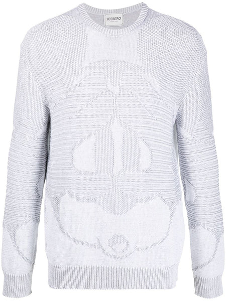 Graphic Intarsia Cotton Jumper