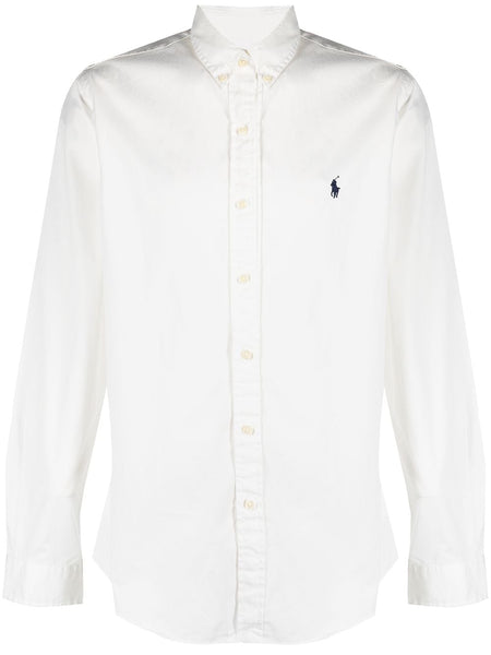 Embroidered-Logo Cotton Shirt