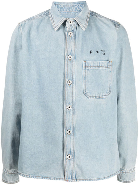 Arrows Motif Denim Shirt