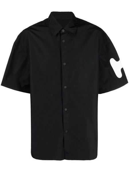 Sprayed-Logo Bowling Shirt