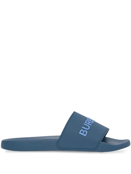 Logo-Print Slip-On Slides