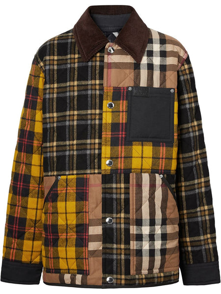 Patchwork Check-Pattern Jacket