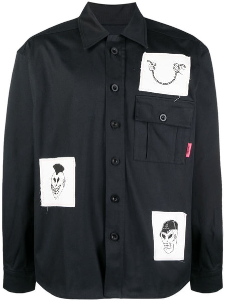 Patch-Detail Shirt