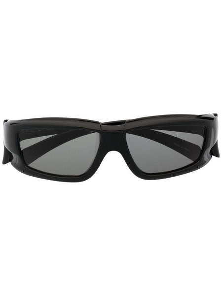 Rectangular-Framed Sunglasses