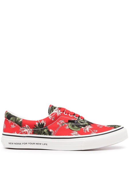Palm Tree-Print Sneakers