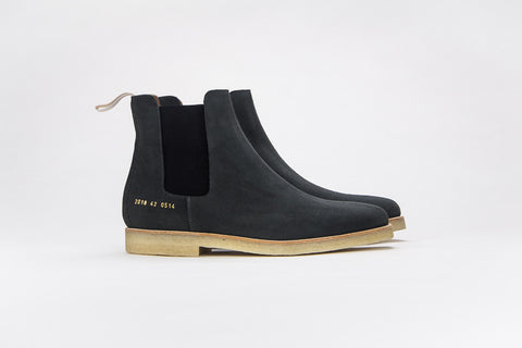 Common Projects Chelsea Boot Washed Black Suede 0514 - The Business Fashion