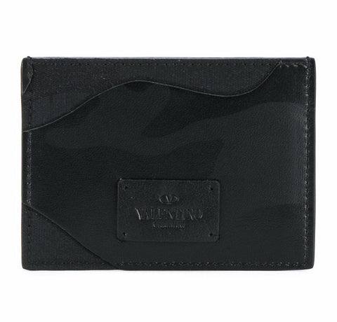 Valentino Camouflage Card Holder Black