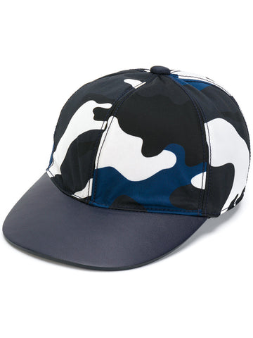 Valentino Camo Cap Blue White Black