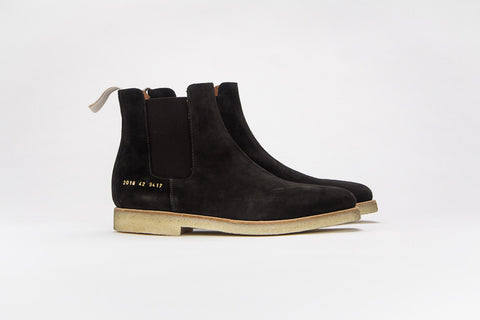 Common Projects Chelsea Boot Dark Brown Suede 9417 - The Business Fashion