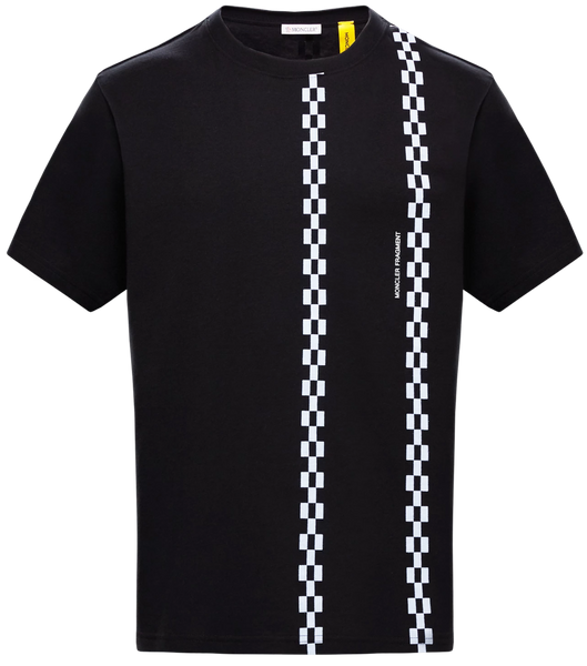 7 Moncler Fragment Check Printed T-shirt Black