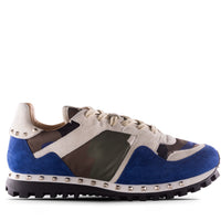 Valentino Sneaker Sneaker Blue & Army Green