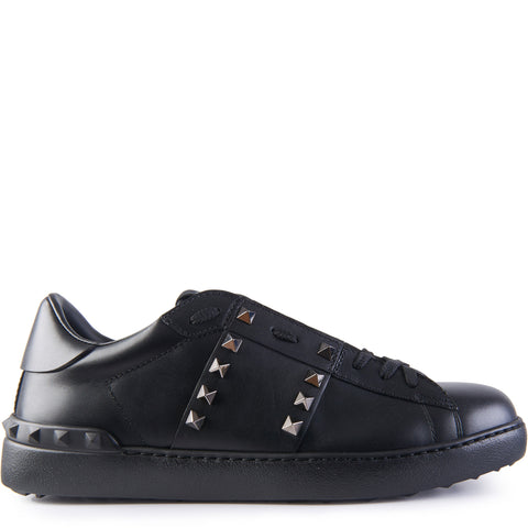 Valentino Rockstud Untitled Sneaker Black - The Business Fashion - 1