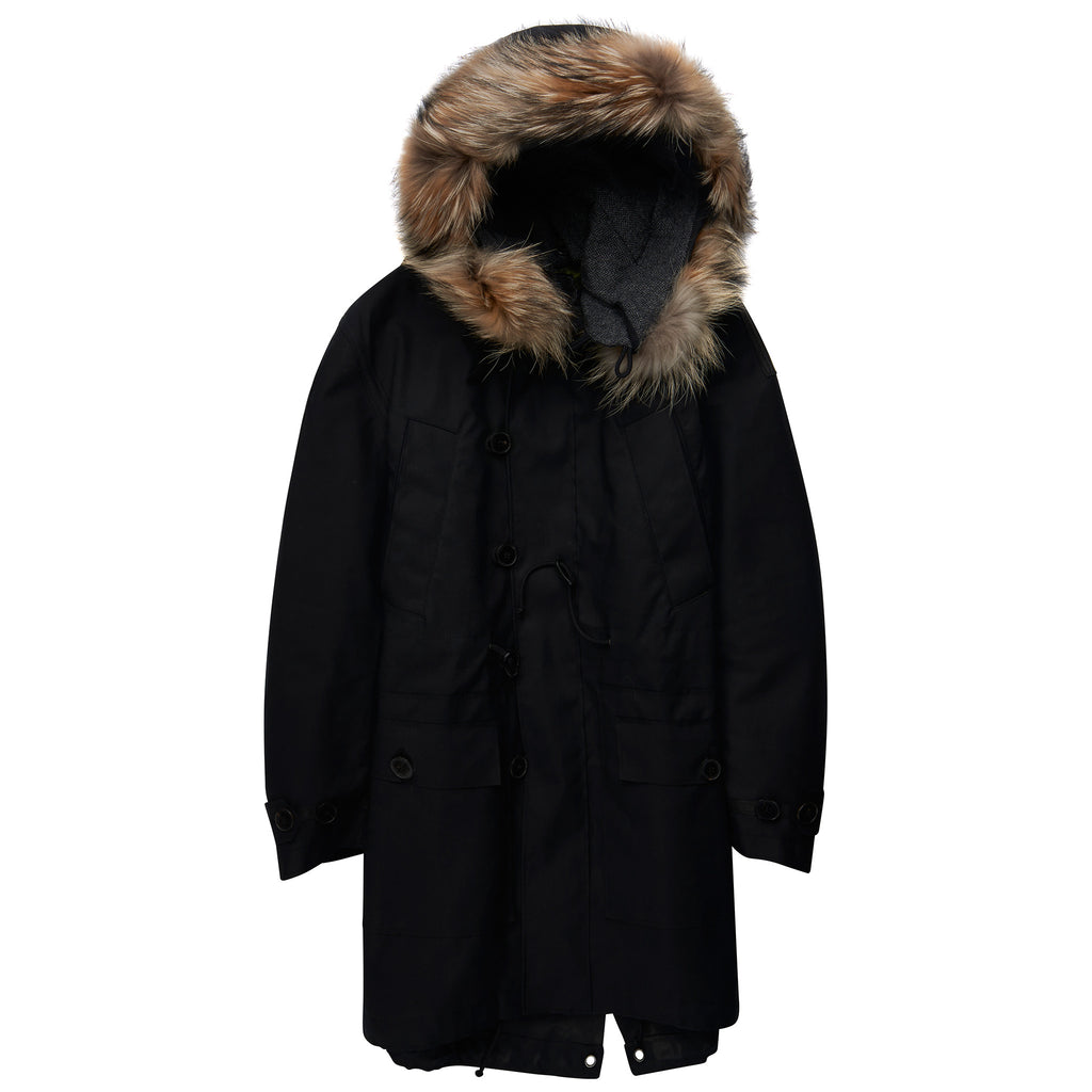 Valentino Oversized Parka Black - The Business Fashion - 1