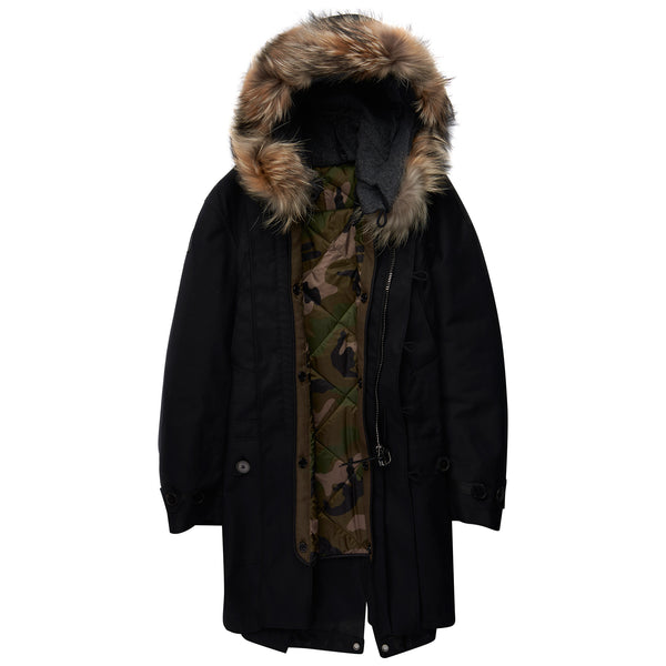 Valentino Oversized Parka Black - The Business Fashion - 2