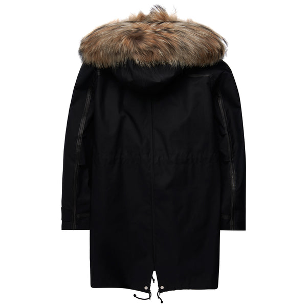 Valentino Oversized Parka Black - The Business Fashion - 3