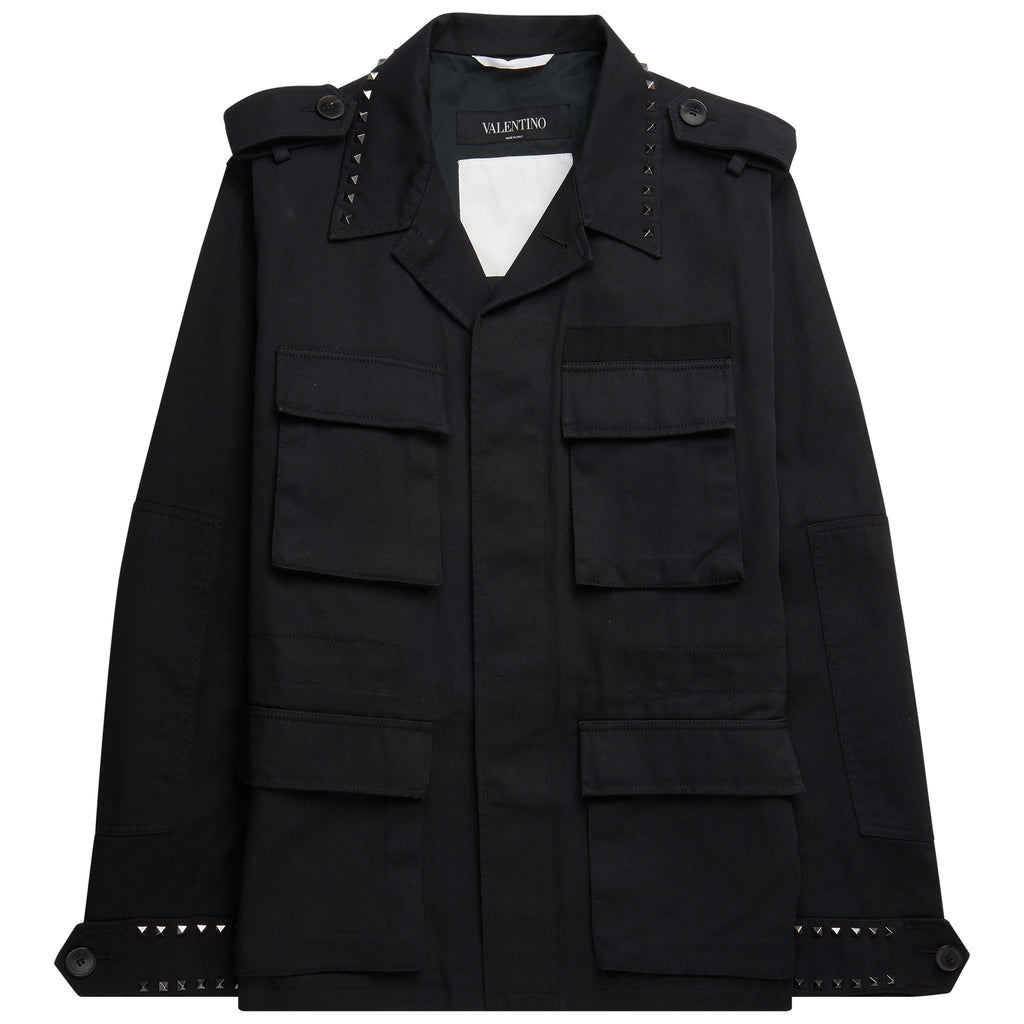 Valentino Rockstud Military Black Jacket - The Business Fashion