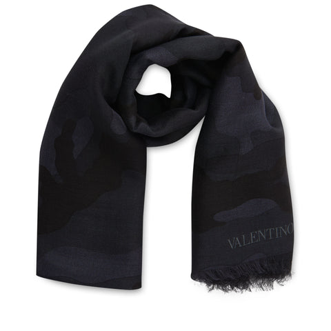 Valentino Camo Scarf Black - The Business Fashion