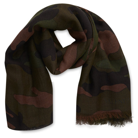 Valentino Camo Scarf Green - The Business Fashion
