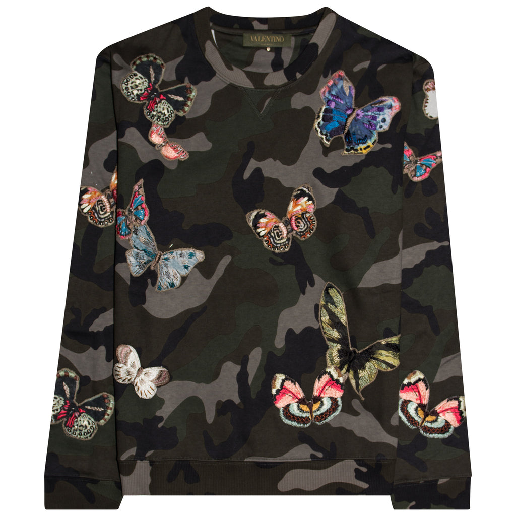 Valentino Camo Butterfly Sweatshirt - The Business Fashion