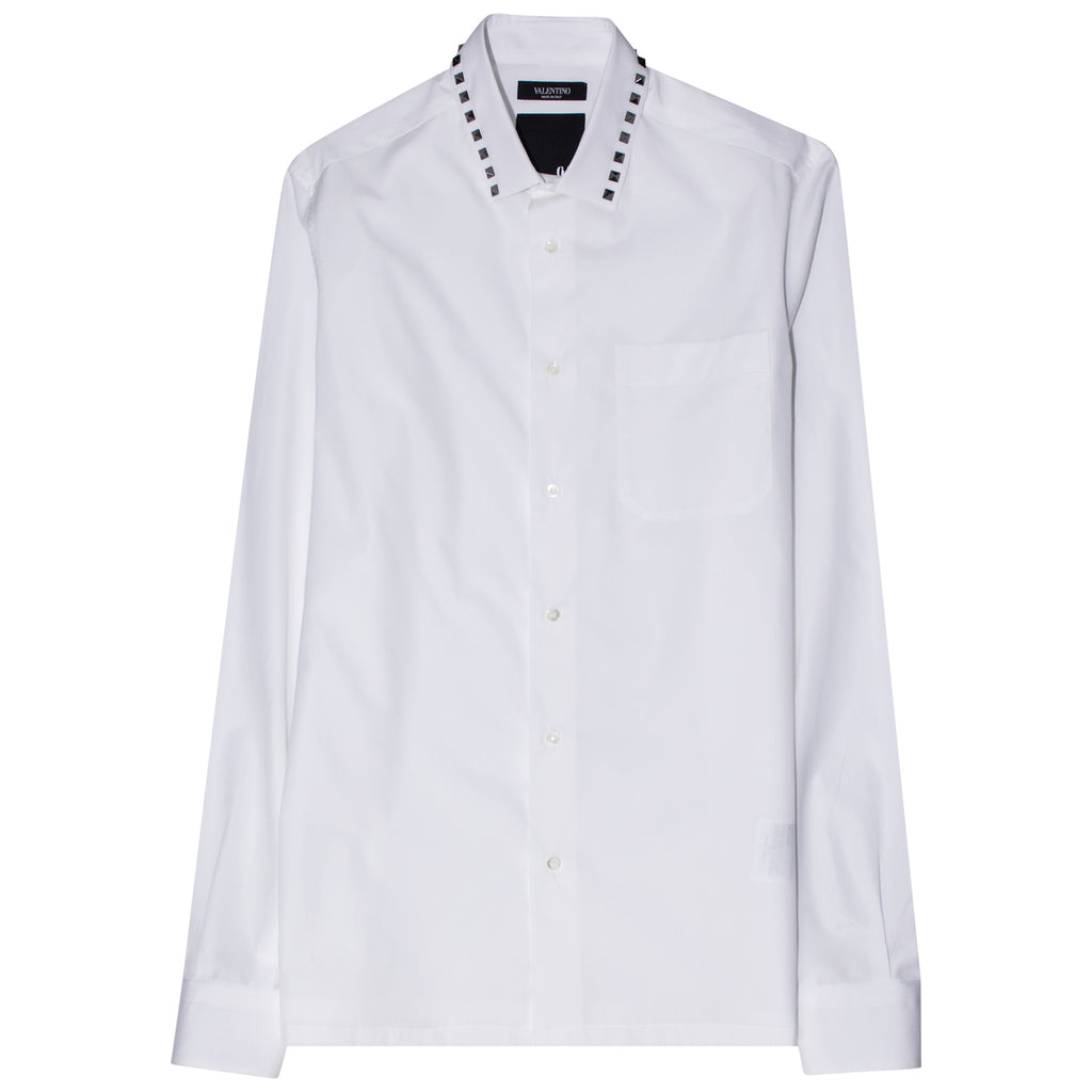 Valentino Classic Rockstud White Shirt - The Business Fashion