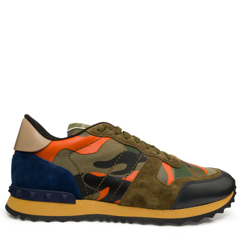 Valentino Rockrunner Sneaker Blue Orange & Army