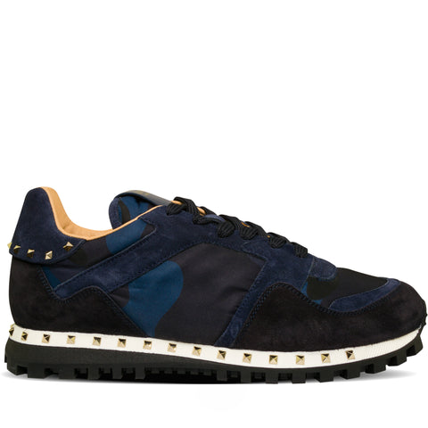 Valentino Stud Sole Rockrunner Sneaker Blue