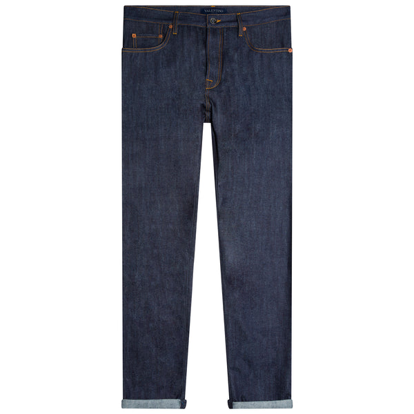 Valentino Regular Fit Selvedge Jeans Indigo
