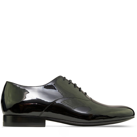 Valentino Patent Oxford Tuxedo Shoes Black