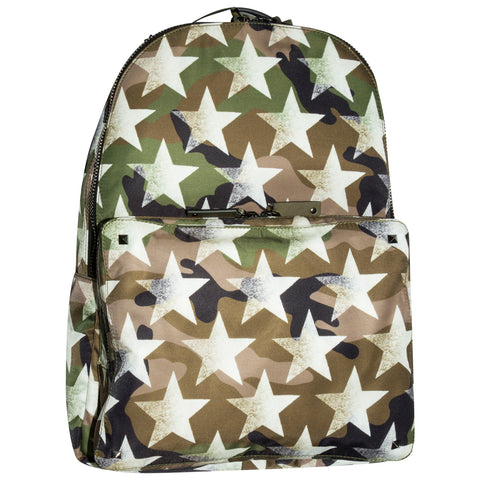 Valentino Star Camo Backpack Army