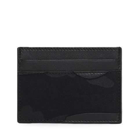 Valentino Camo Card Holder Wallet Black