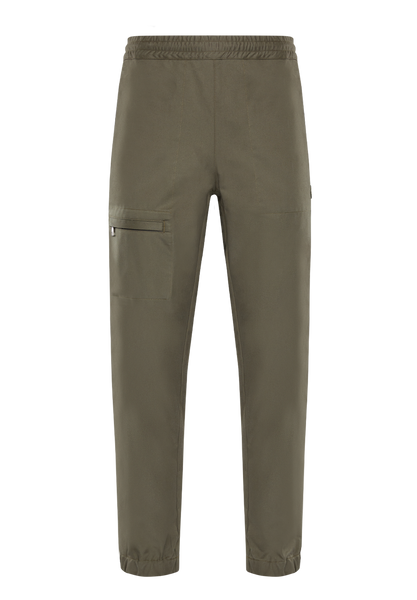 2 Moncler 1952 Green Gathered Ankle Trousers