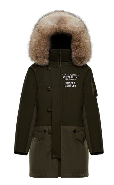 2 Moncler 1952 Undefeated Green Military Parka