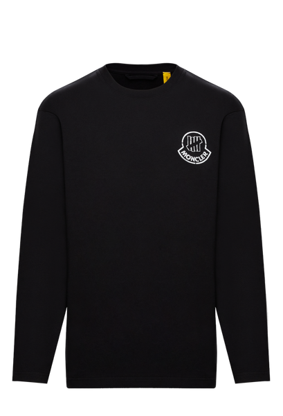 2 Moncler 1952 Undefeated Black Long Sleeve Logo T-Shirt