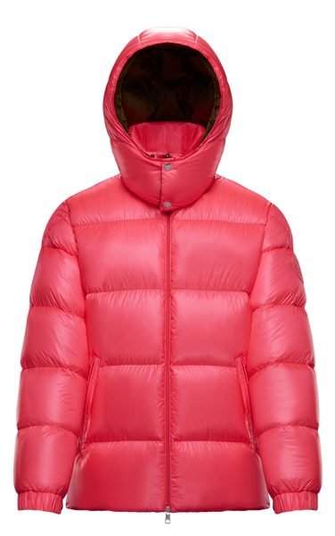 2 Moncler 1952 Logo Pink Padded Hooded Jacket