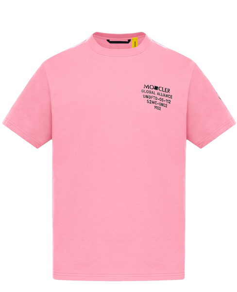 2 Moncler 1952 Undefeated Pink Logo T-Shirt